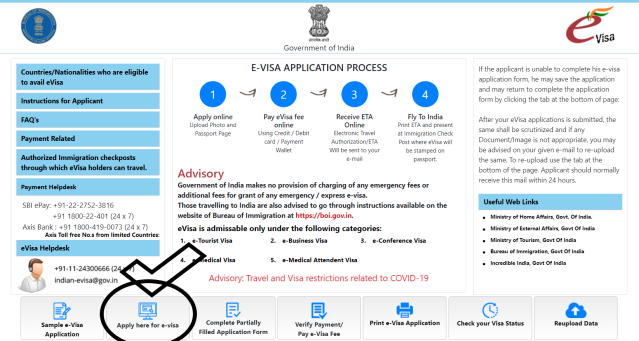 india visa online application