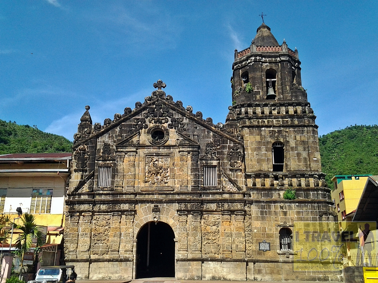 The century old Church of st James The Apostle in Paete, Laguna