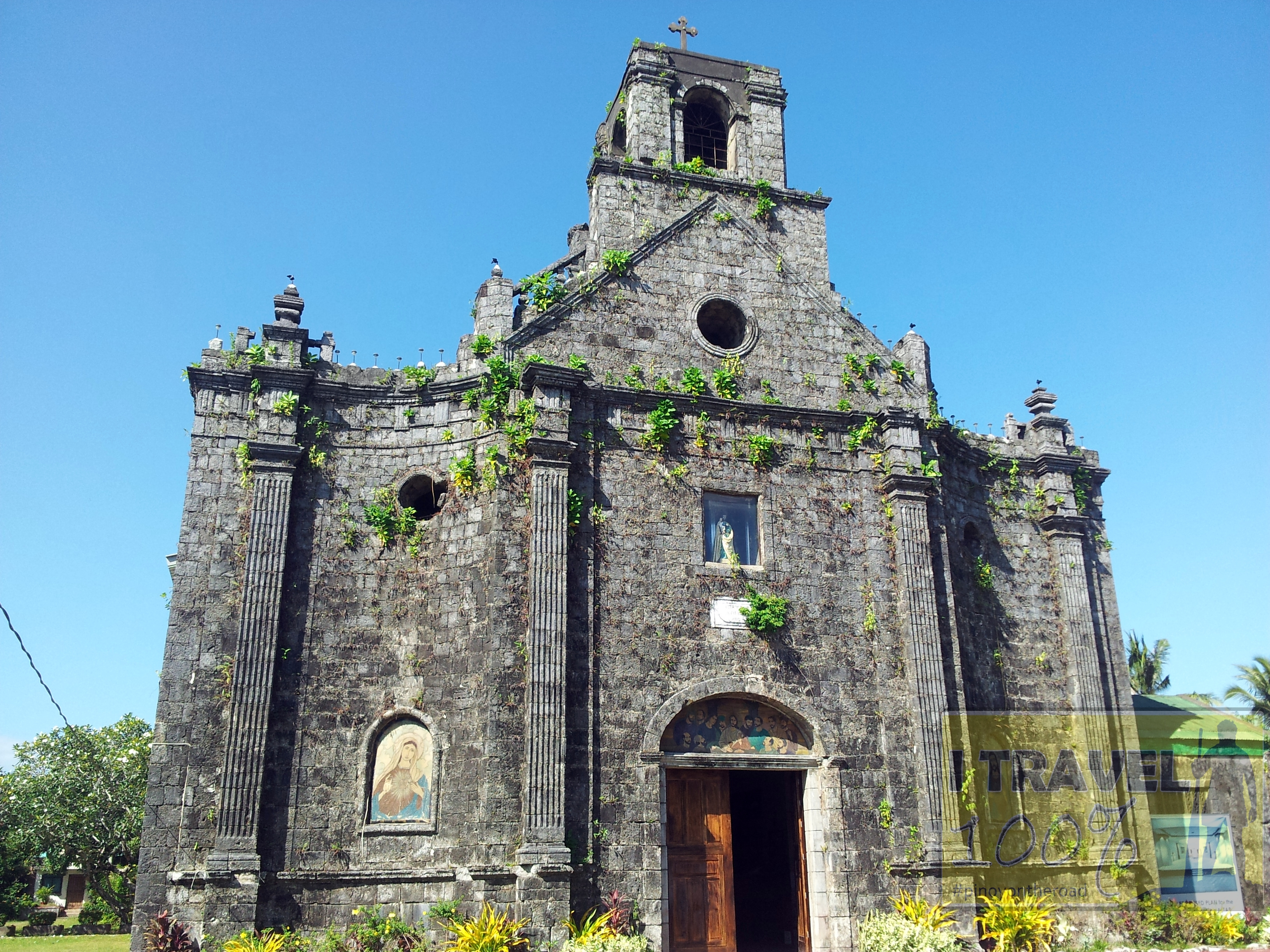 the imposing barcelona church and century old ruins  sorsogon barcelona church photo essay