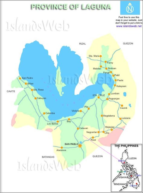 Map of Laguna (image owned by its rightful owner/s)