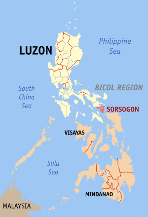 map of sorsogon