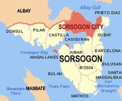 WIkipedia map of Sorsogon Province