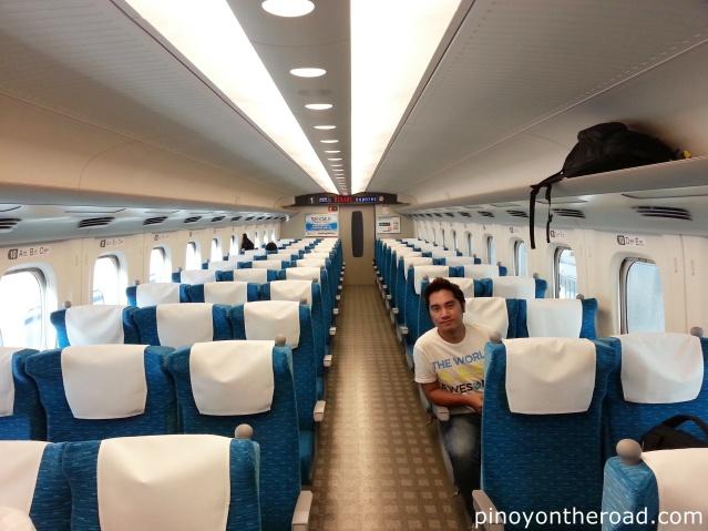 Inside cabin of Shinkansen