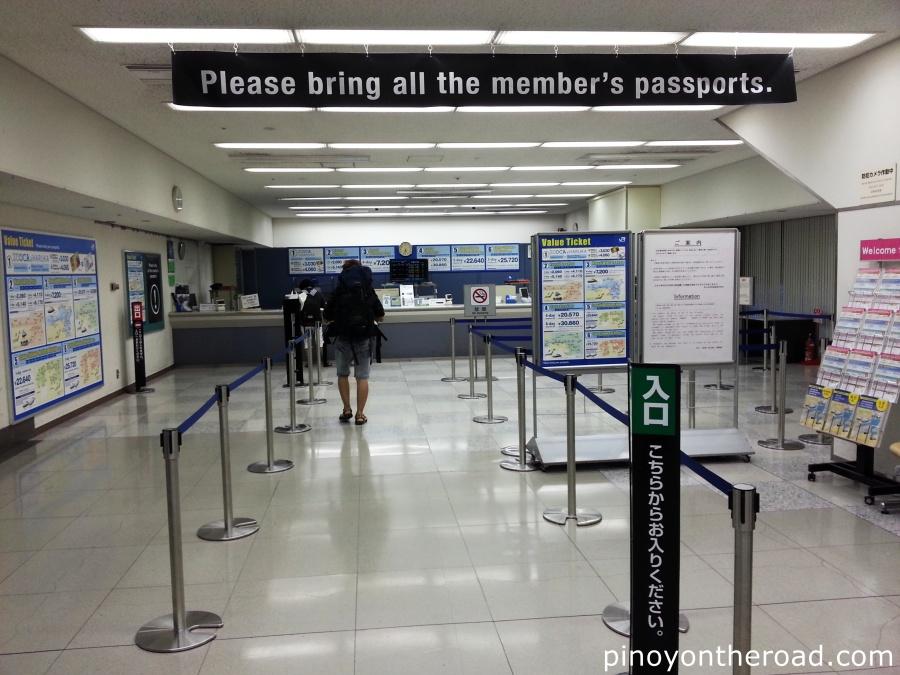 JR Office in Kansai Airport