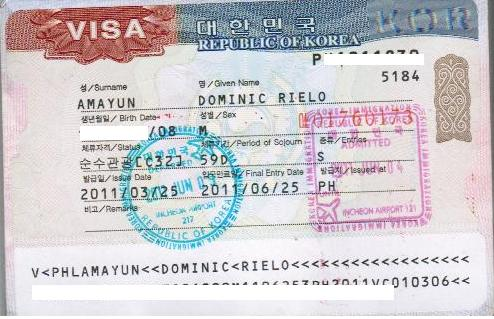 My First South Korean Tourist Visa - Single Entry for 59 Days