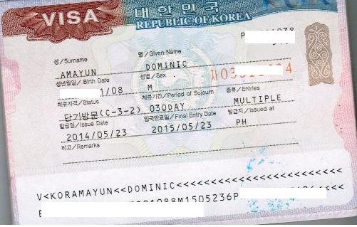 My Second South Korean Tourist Visa - Multiple Entry for 1 Year