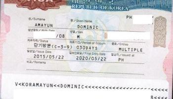 visa requirements for filipinos applying for korean tourist visa