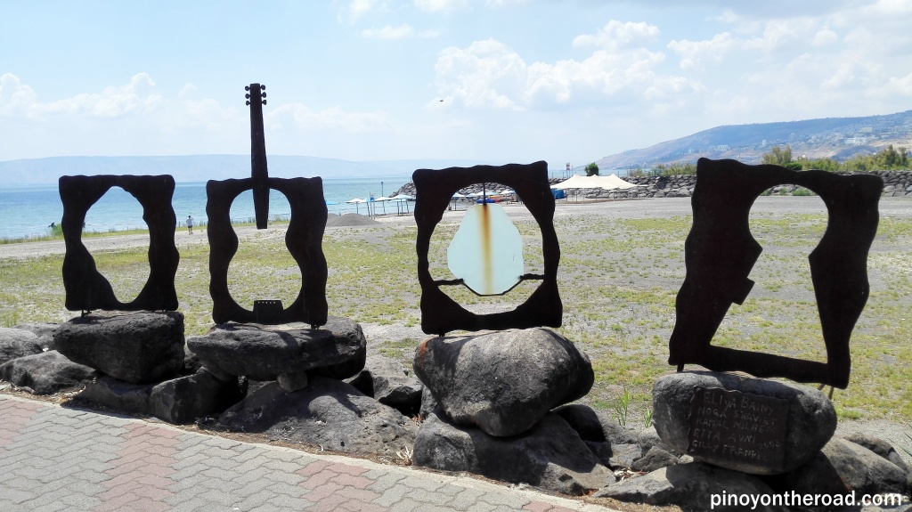 Art works near the docking area