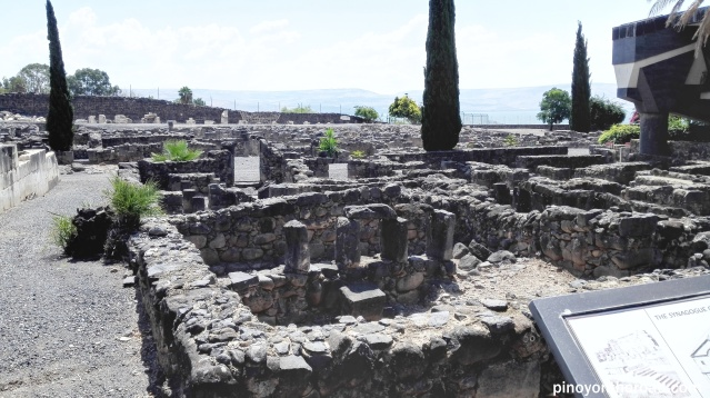 Ruins of the town of Capernaum and synagogue