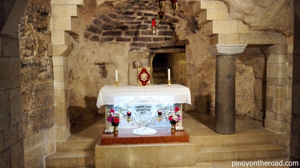 The Grotto of the Annunciation where angel Gabriel appeared before Mary