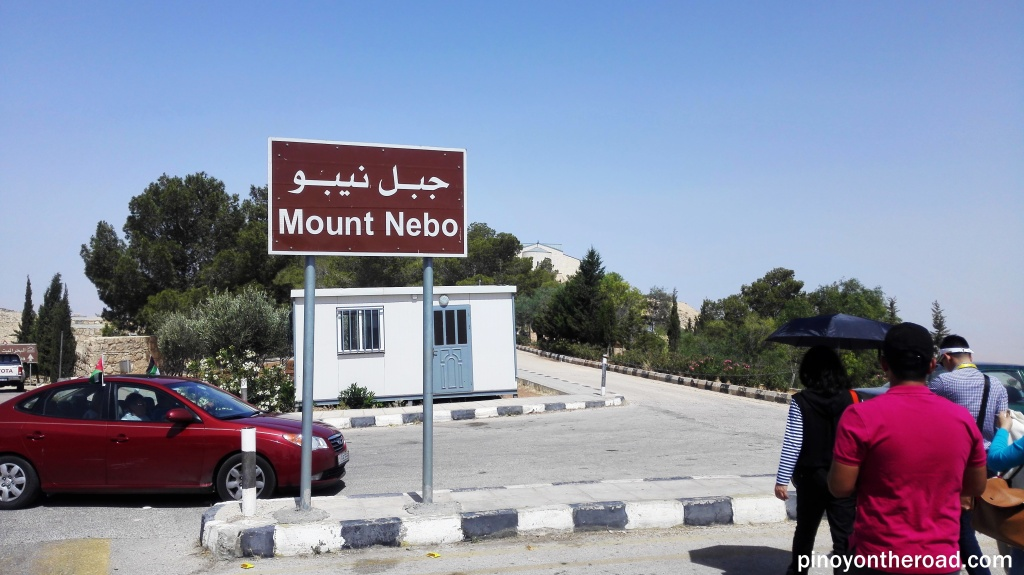 Signage of Mt. Nebo