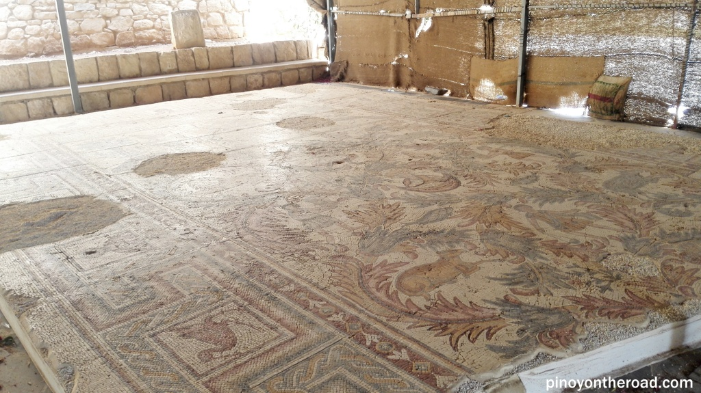 Some mosaic floor maps can be seen in the Old Baptistry
