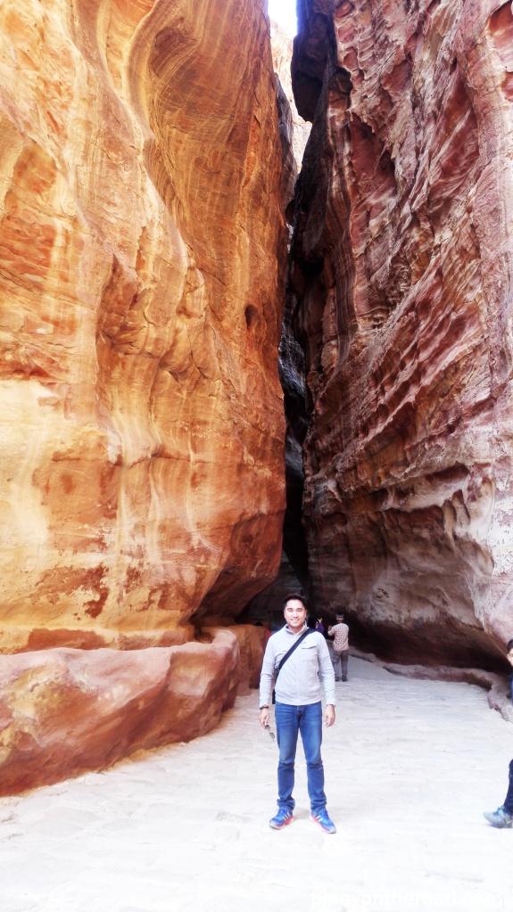 The narrow part of the Siq, Petra