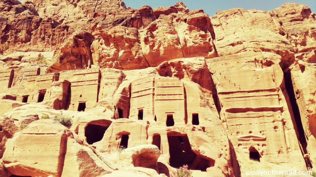 Tombs curved out of the mountains, Petra