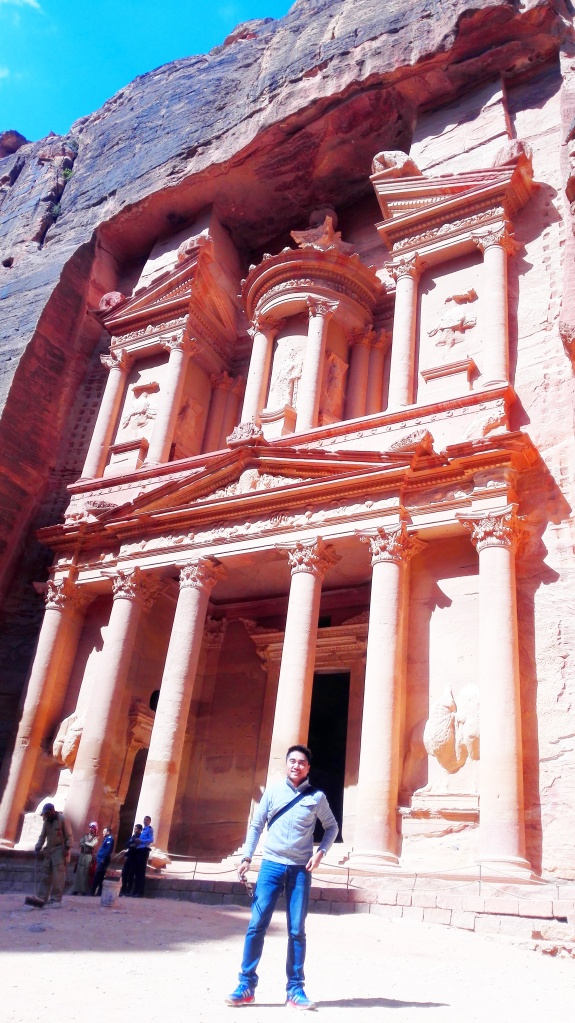 In front of the Trasury, Petra
