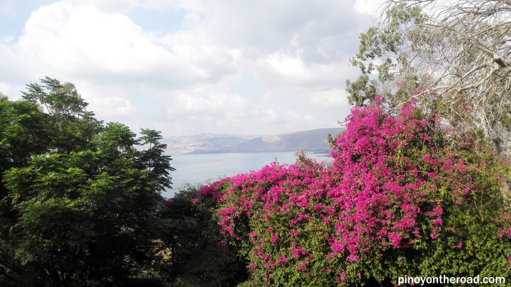 Sea of Galilee as seen from Mount of Beatitudes