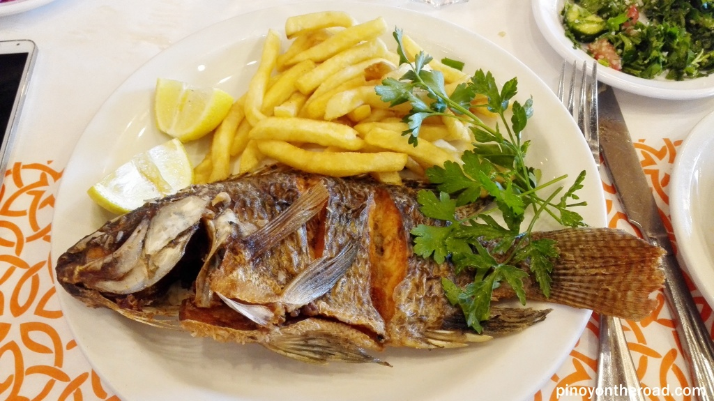 My plate for this lunch - St Peter's fish