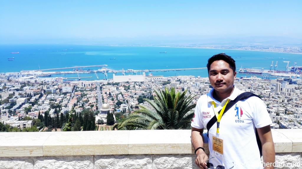 The UNESCO World Heritage Site of Baha'i World Center as seen on top of Mt. Carmel